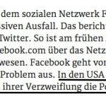 Facebook, deine Menschen