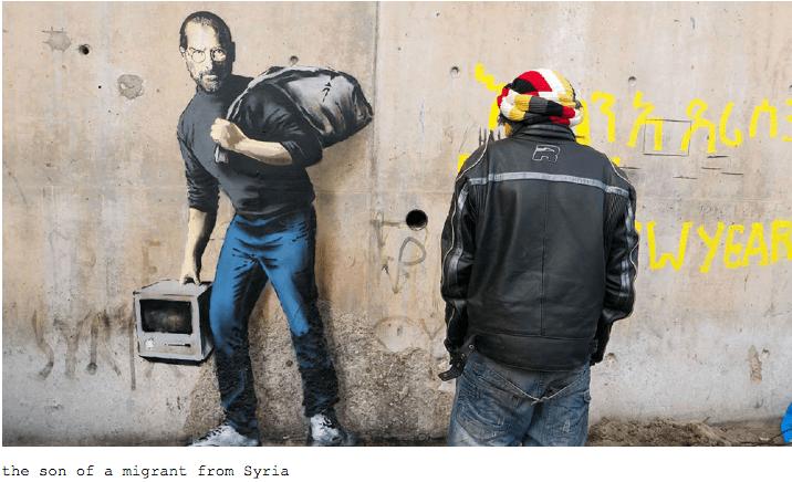 Banksy steve jobs calais