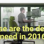 Schreibtisch-Arbeit in 2016