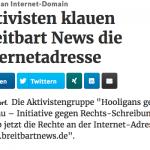 Domain-Occupy: Einer Rechtspopulisten-Seite die Internetadresse klauen