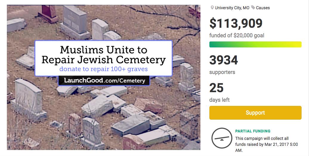 muslime sammeln geld für wiederaufbau jüdischer friedhof